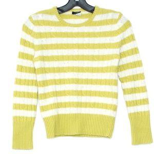 J Crew Sweater Cashmere Wool Stripe Medium I1